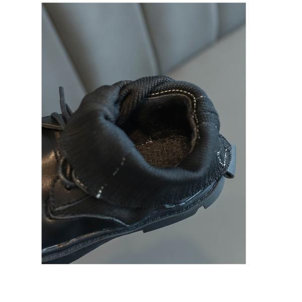 ブーツ キッズ マーチンブーツ ショートブーツ ショート 靴 キッズシューズ ジュニア 女の子 シューズ 子供靴 おしゃれ ローヒール 秋 冬 15.5-22.0cm|glanz-shop|04
