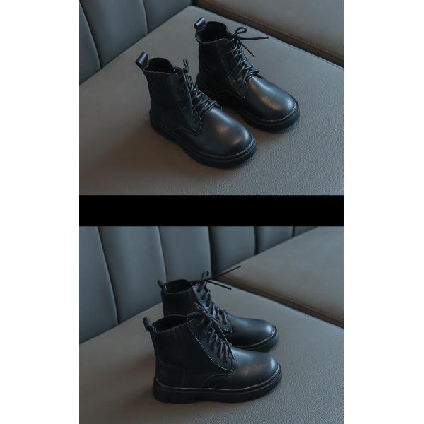 ブーツ キッズ マーチンブーツ ショートブーツ ショート 靴 キッズシューズ ジュニア 女の子 シューズ 子供靴 おしゃれ ローヒール 秋 冬 15.5-22.0cm|glanz-shop|08