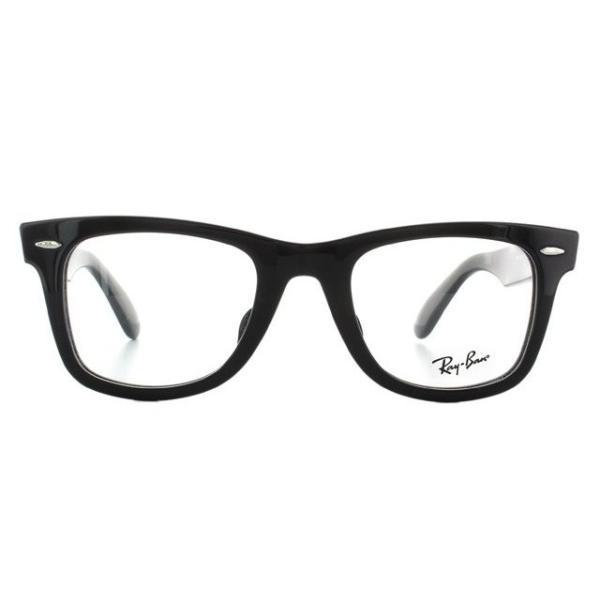 訳あり レイバン Ray-Ban 伊達 度付き 度入り メガネ 眼鏡 フレーム ウェイファーラー RX5121F 2000 50 RB5121F 海外正規品|glass-expert|03