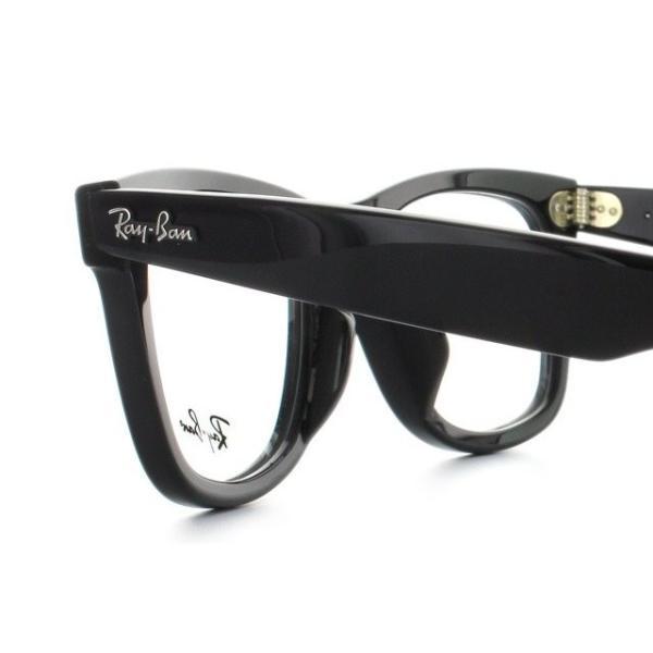 訳あり レイバン Ray-Ban 伊達 度付き 度入り メガネ 眼鏡 フレーム ウェイファーラー RX5121F 2000 50 RB5121F 海外正規品|glass-expert|05