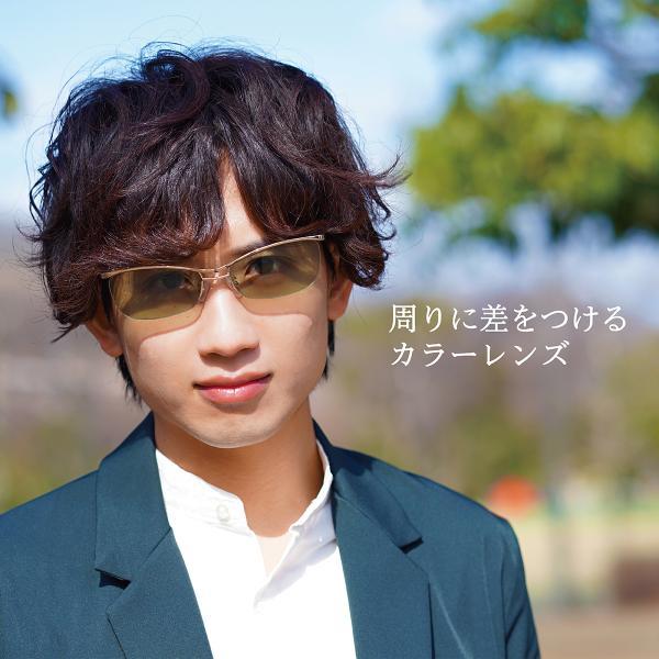 サングラス おしゃれ 男性用 メンズ 伊達メガネ 紫外線カット UVカット かっこいい ちょい悪 ちょいワル メタル ナイロール FI2002|glass-garden|04