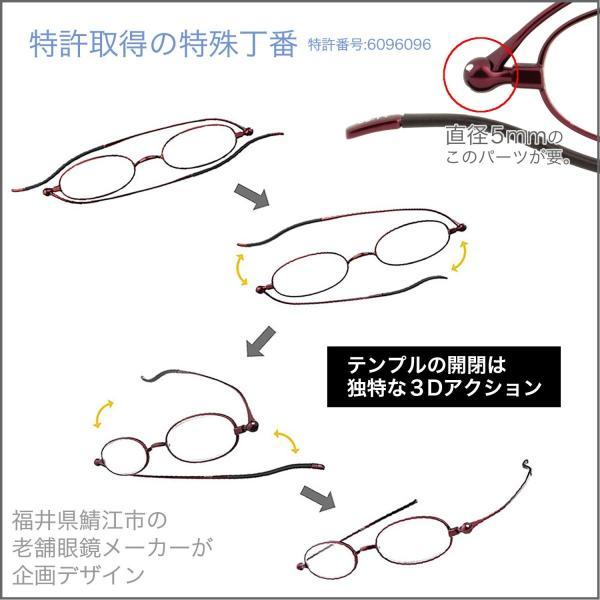 老眼鏡 スリム 薄い 薄型 リーディンググラス レディース しおり 男性 おしゃれ 栞 ブックバンド型ケース付 オーバル SI-01B glass-garden 04