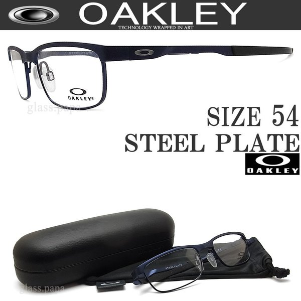 5ba4a2f0e22 OAKLEY オークリー メガネ OX3222-0354 (サイズ54) [STEEL PLATE ...