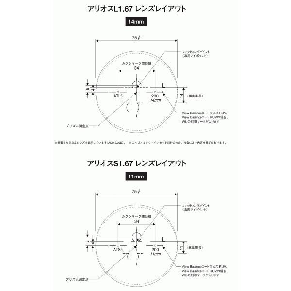 メガネセット用 遠近両用薄型メガネレンズ HOYA/アリオス1.67 カラーレンズ glasscore 02