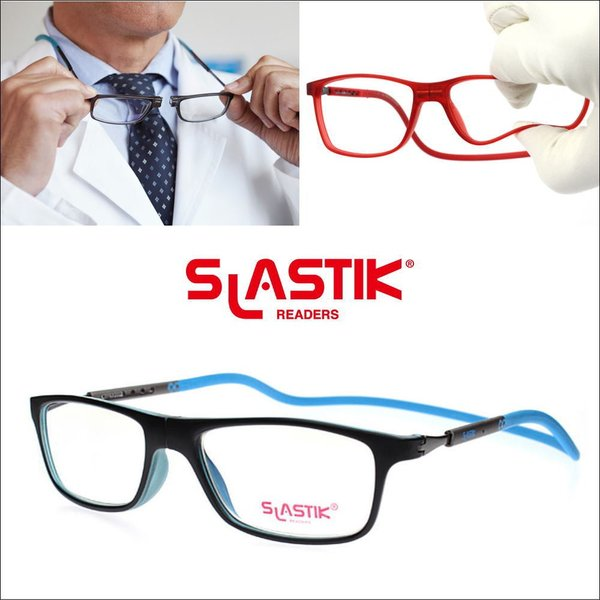 メガネ 度付き リーディンググラス 度付 首掛け スラスティック jabba004clearblue 1.6薄型非球面度付きレンズ