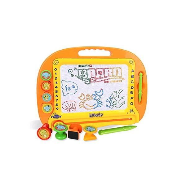 お絵かきボード磁石ボード大画面(39*29cm)子供おもちゃマグネットスタンプ繰り返し描ける