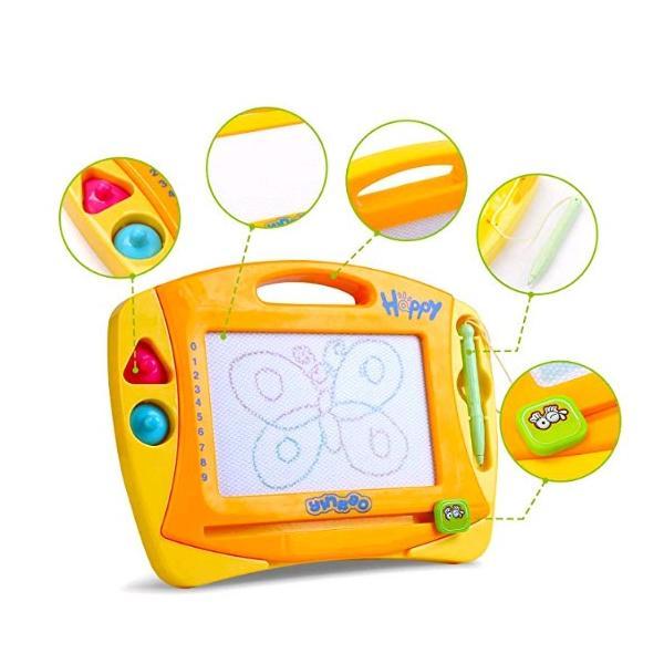 お絵かきボード子供おもちゃ磁石ボード4色磁石マグネットスタンプ付き