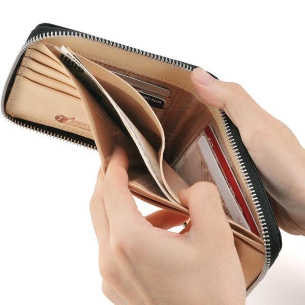 3cfa744f3dab ... 財布 二つ折り財布 メンズ 二つ折り ラウンドファスナー box型小銭入れ ブライドルレザー BRITISH ...