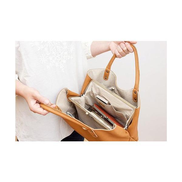 Kanmi. ( カンミ ) ミルフィーユガマ口 バッグ / 日本製 /  本革 使用 / がまぐち バッグ|glencheck|03
