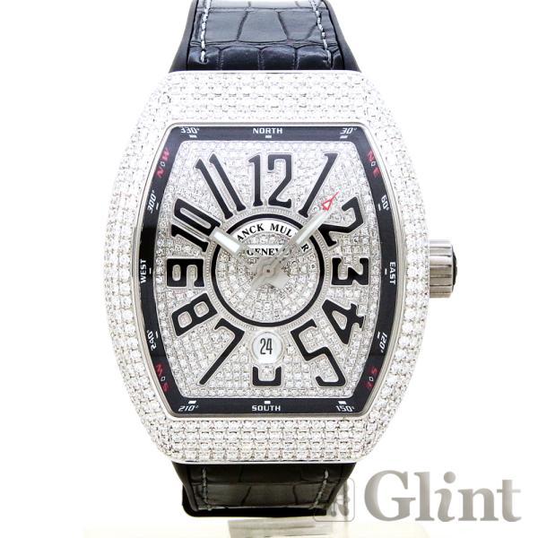 new style 1acac 065e4 FRANCK MULLER(フランクミュラー)ヴァンガード ダイヤモンド(Ref.V45SCDT)〔ブラック文字盤〕〔腕時計〕〔新品〕〔メンズ〕