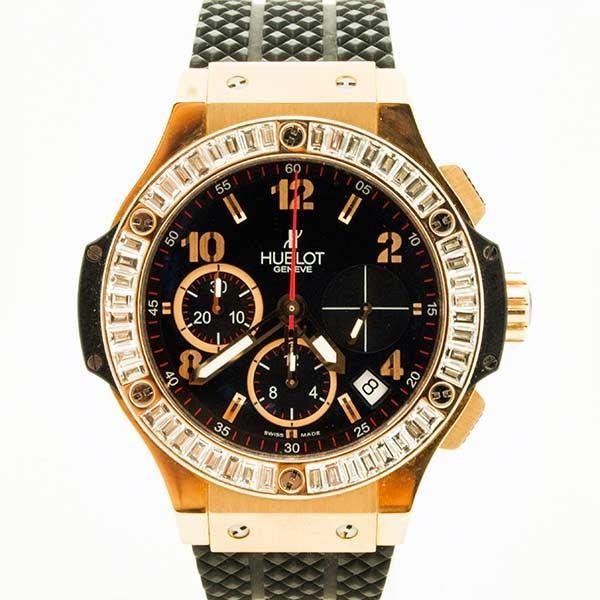 promo code f8e03 74b25 HUBLOT【ウブロ】ビッグバン41mm RG バゲットダイヤモンド 341.PX.130.RX〔腕時計〕〔バゲットダイヤモンド〕〔新品〕