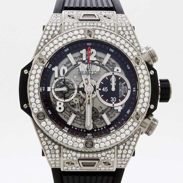 wholesale dealer 214e7 5f5a3 HUBLOT【ウブロ】 ビッグバン ウニコ チタニウム パヴェ(411.NX.1170.RX.1704)〔完全自社製ムーブメント〕〔ベゼル /  ラグダイヤモンド〕〔腕時計〕