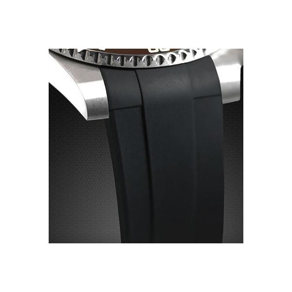 RUBBERB ロレックス GMTマスターIIセラミック専用ラバーベルト 色:オレンジ【ROLEXバックルを使用】※時計、バックルは付属しません