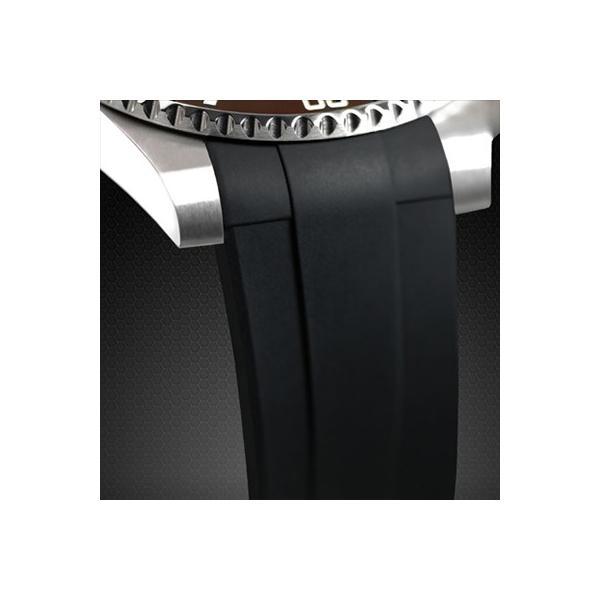 RUBBERB ロレックス サブマリーナ(Ref.14060)専用ラバーベルト【ホワイト】【尾錠付き】※時計は付属しません