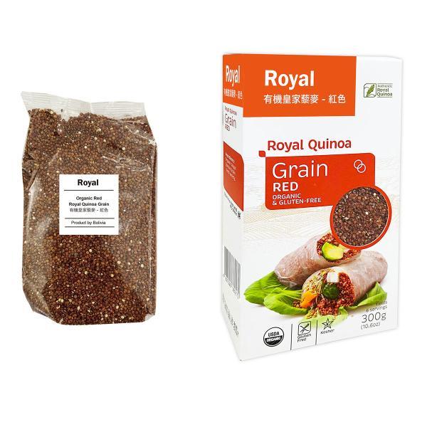 赤キヌア(粒)300 g - ORGANIC & GLUTEN-FREE Royal Quinoa
