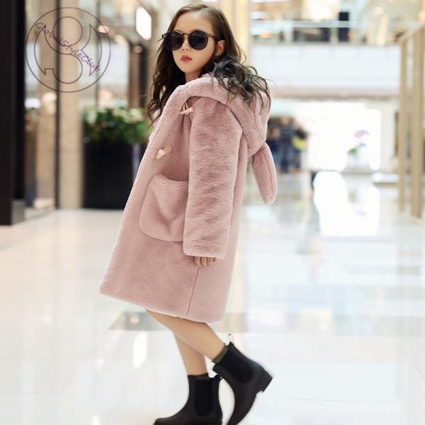 accbc0e67e87e ... 毛皮コート 人気 上質 コート 上着 ジャケット ファーコート子供服 子ども おしゃれ アウター 暖かい ...