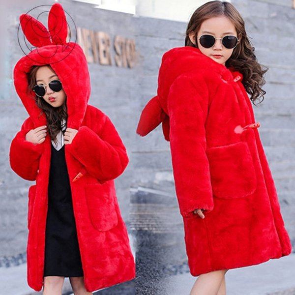 ff60386231a8e ... 毛皮コート 人気 上質 コート 上着 ジャケット ファーコート子供服 子ども おしゃれ アウター 暖かい