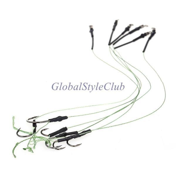 12ピース鯉釣り髪リグ編組糸高炭素鋼フックスイベル鯉リグ鯉釣りアクセサリータックル