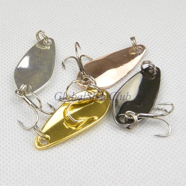 熱い販売3.5センチ/3.7グラム釣りスプーンルアースパンコールのメタルハード餌フックタックル釣りルアー