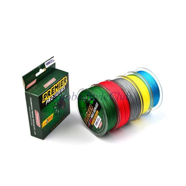 100メートル釣り糸赤/緑/グレー/イエロー/ブルー編組釣りライン10-80 ライングリーンパッケージ新しい