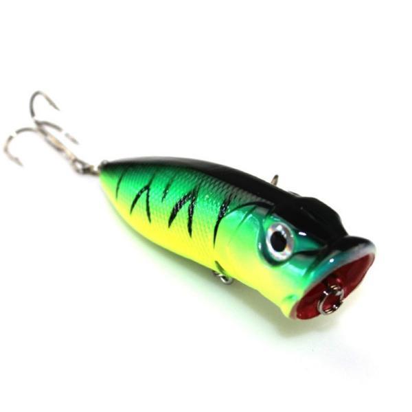 1ピースポッパー餌釣りルアー#6餌釣り6.5センチ13グラム高炭素鋼フック釣り機器ハードプラスチック新しい5色