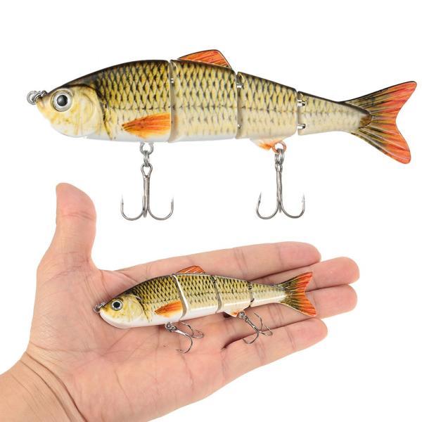 釣りルアー120ミリメートル17グラムセグメント多関節ハードルアー生きているようなスイムベイトクランク餌2トレブルフック3リアルな目