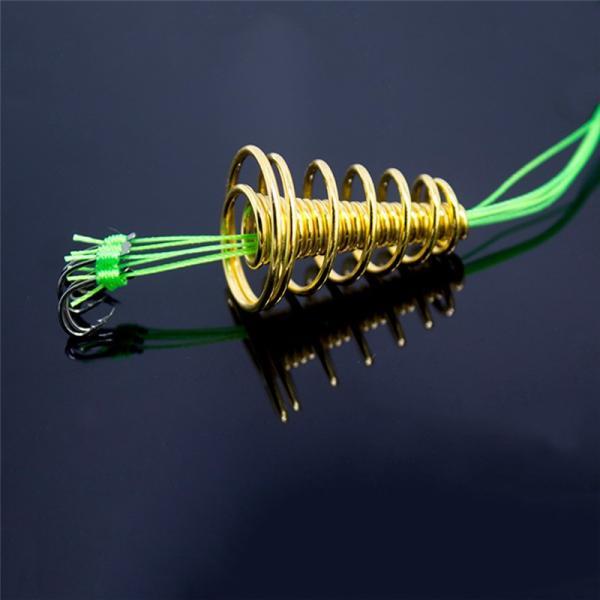 4ピース/セット釣りフック蛍光抗ハングブラスト爆風爆発フックインラインぶら下げタックルステンレス鋼