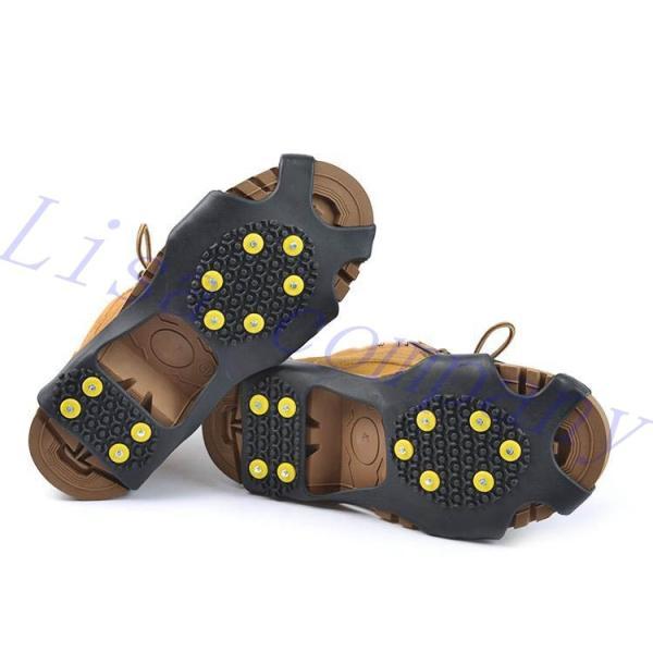 をペアの新しいアイゼンアンチスキッド靴カバー屋外クライミング雪原岩アイスクライミング鋼10 爪氷をつかむ|globalstyleclub