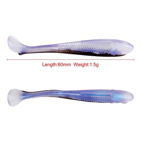 10ピース80ミリメートル2.9グラム釣りルアー簡単シャイナーシリコーンソフト餌ダブルカラー鯉人工ソフトルアー新加入
