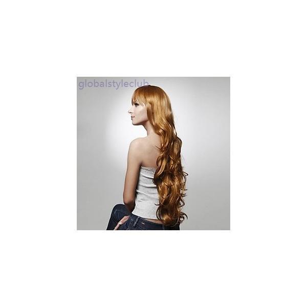 ウイッグ キャップレス ロング 高品質 合成巻き毛 かつら 複数色 カツラ ヘアーネット付