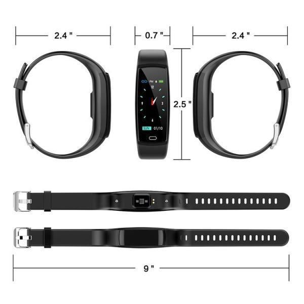 2019最新版 スマートウォッチ 日本語対応 カラーディスプレイ フィットネス ブレスレット iPhone Android IP7 防水防塵 睡眠計 血圧 活動計 カロリー|glock|16