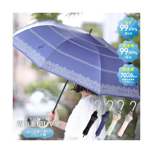 UVカット100%♪ 日傘 晴雨兼用傘全3色