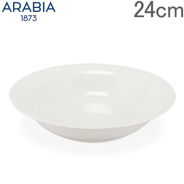 アラビアArabia皿24cmアルクティカプレート1005655ホワイトArcticaPlate深皿北欧食器