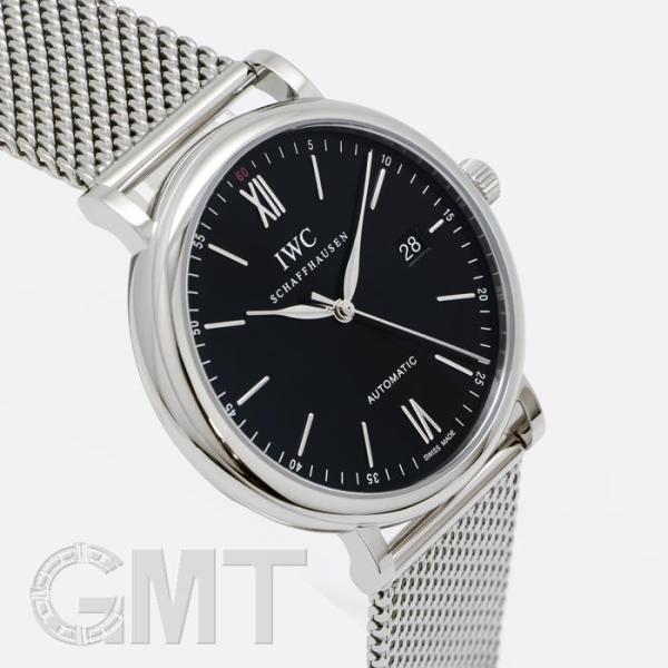 IWC ポートフィノ ブラック IW356506 IWC 新品 メンズ  腕時計  送料無料  年中無休 gmt 02