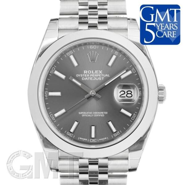 watch 14bf3 ca266 ロレックス デイトジャスト 41 126300 ダークロジウム ジュビリーブレス ROLEX 新品 メンズ 腕時計 送料無料 年中無休