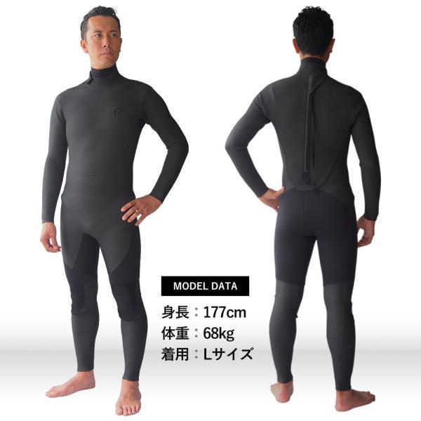 セミドライスーツ ウェットスーツ 5/3mm 保温起毛 防水インナー 日本規格  セミドライ ウェットスーツ サーフィン|go-island|02