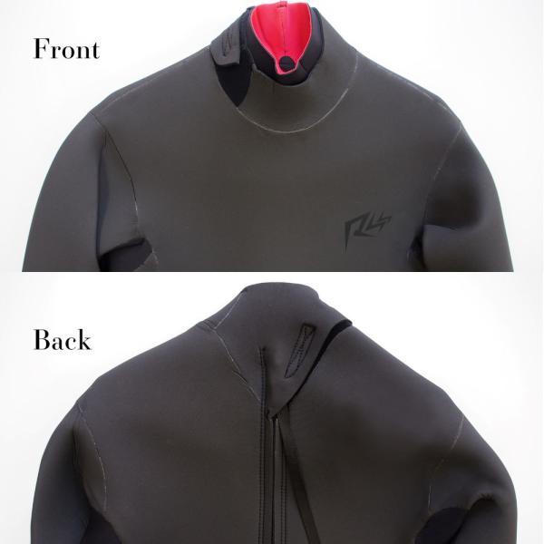 セミドライスーツ ウェットスーツ 5/3mm 保温起毛 防水インナー 日本規格  セミドライ ウェットスーツ サーフィン|go-island|03