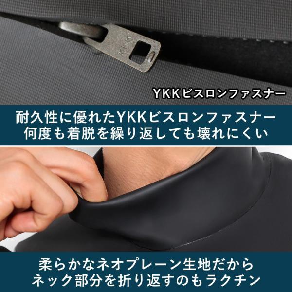 セミドライスーツ ウェットスーツ メンズ ノンジップ サーフィン 5/3mm 日本規格 FELLOW|go-island|09