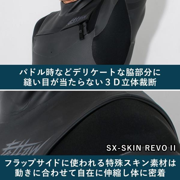 セミドライスーツ ノンジップ セミドライ サーフィン  FELLOW 5/3mm 保温起毛素材 超撥水加工 ジップレス 日本規格 セミドライ ウェットスーツ|go-island|05