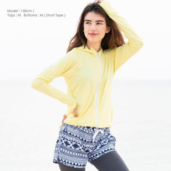 ラッシュガード レディース パーカー ゆったり 長袖 大きいサイズ UPF50+ UVカット98% FELLOW|go-island|15