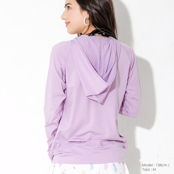 ラッシュガード レディース パーカー ゆったり 長袖 大きいサイズ UPF50+ UVカット98% FELLOW|go-island|16