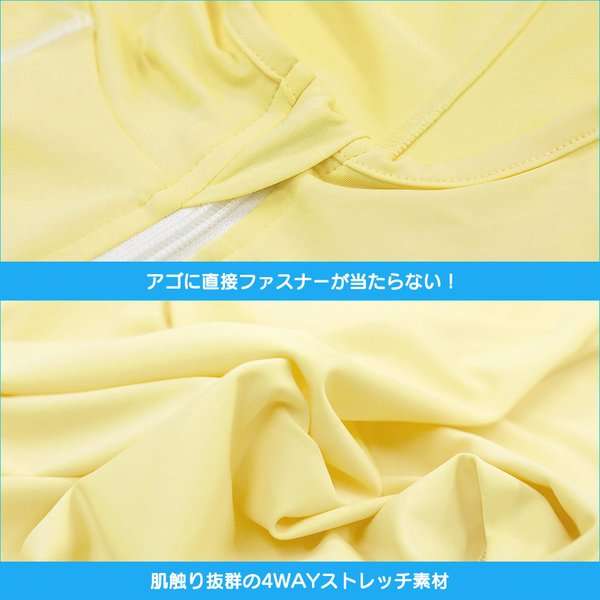 ラッシュガード レディース パーカー ゆったり 長袖 大きいサイズ UPF50+ UVカット98% FELLOW|go-island|17