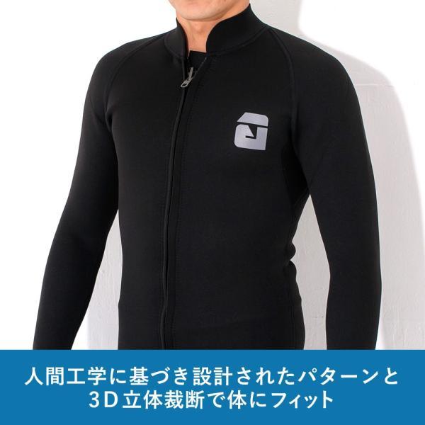 【全品10%OFF! 7/13 23:59まで】タッパー ウェットスーツ メンズ 2.5mm タッパ サーフィン ウエットスーツ 日本規格 SUP ダイビング go-island 09