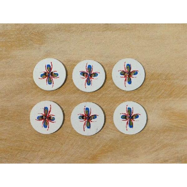 二つ穴 ボタン  手芸 手作り ナチュラル 天然貝ボタン シェルボタン レジンボタン ココナツボタン バリボタン