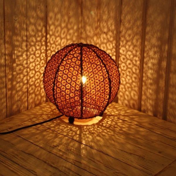 ランプ フロアライト スタンドライト テーブルライト 球型 バンブー アジアン フロアランプ 間接照明 おしゃれ ボールランプ リビング ダイニング 和室 バリ