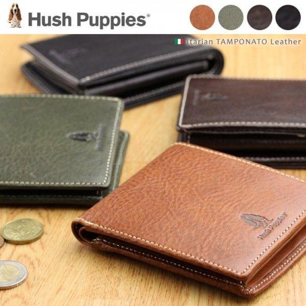 財布メンズ二つ折りハッシュパピーHushPuppies革男性イタリアンレザー