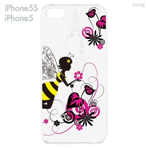 iPhone SE iPhone5s iPhone5 ケース カバー スマホケース クリアケース Clear Arts 花と妖精 天使 フェアリー 01-ip5s-zes018|gochumon|05