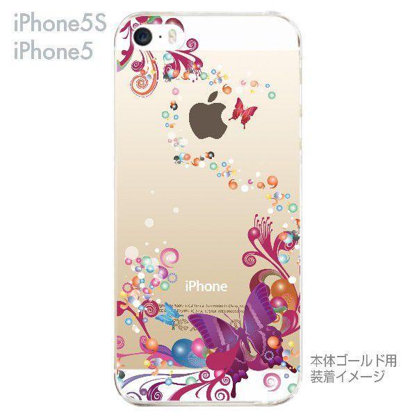 iPhone5s iPhone5 ケース カバー スマホケース クリアケース Clear Fashion 蝶 06-ip5s-ca0083|gochumon|02