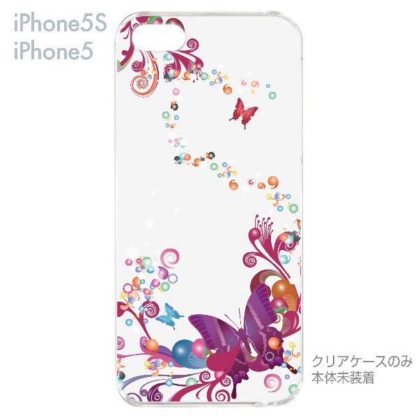 iPhone5s iPhone5 ケース カバー スマホケース クリアケース Clear Fashion 蝶 06-ip5s-ca0083|gochumon|05