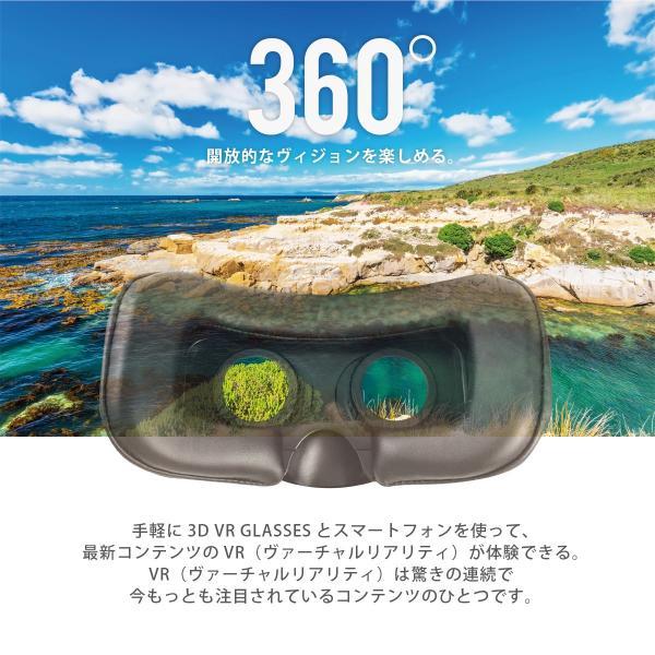 3D VRゴーグル VR ヘッドセット スマホ ヘッド box メガネ 360度 360°動画 iPhone6s iPhone6 Plus 3dvr-01|gochumon|02